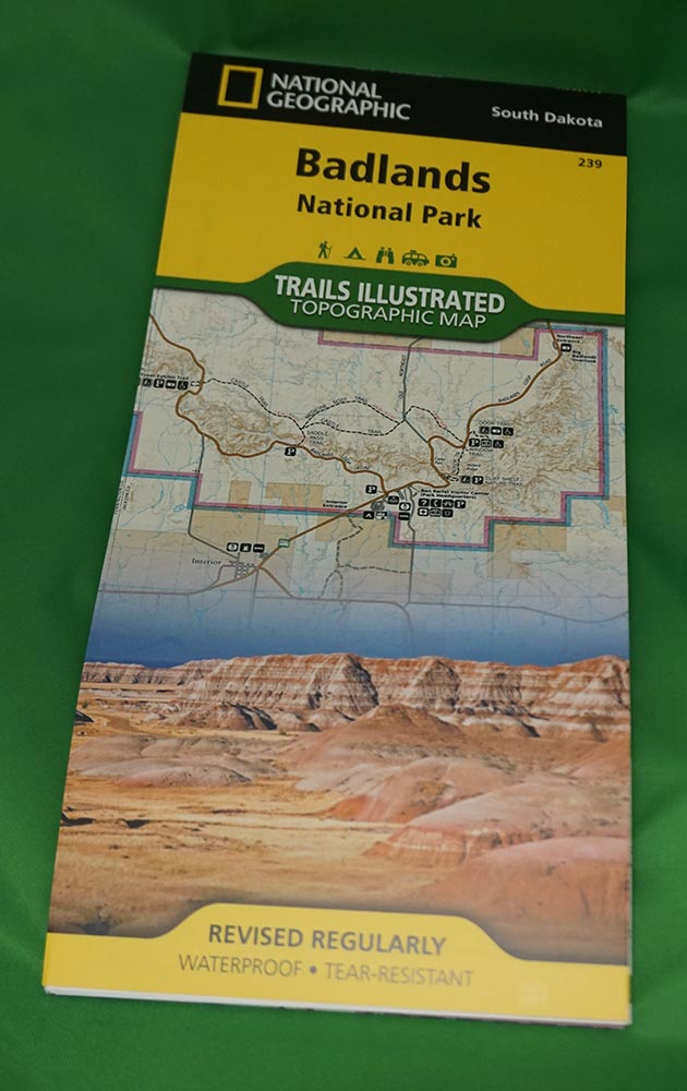 Trails Illustrated Topographic Map - Badlands National Park