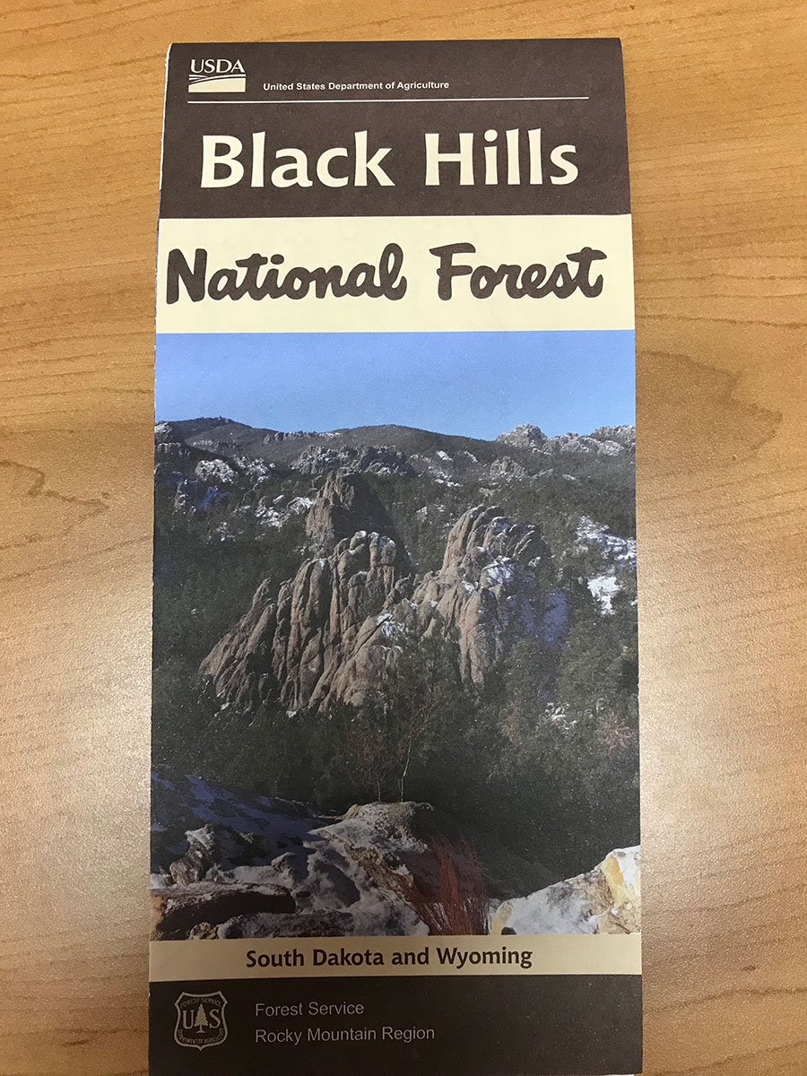 Black Hills National Forest Recreation Map 2017 Black Hills