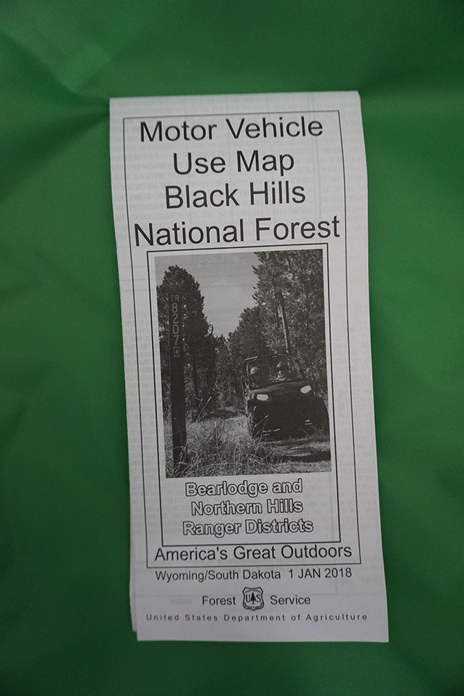 Black Hills National Forest Motorized Trail Map 2018