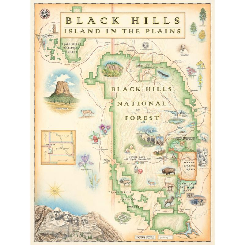 Black Hills Xplorer Map - Mount-rushmore-on-us-map