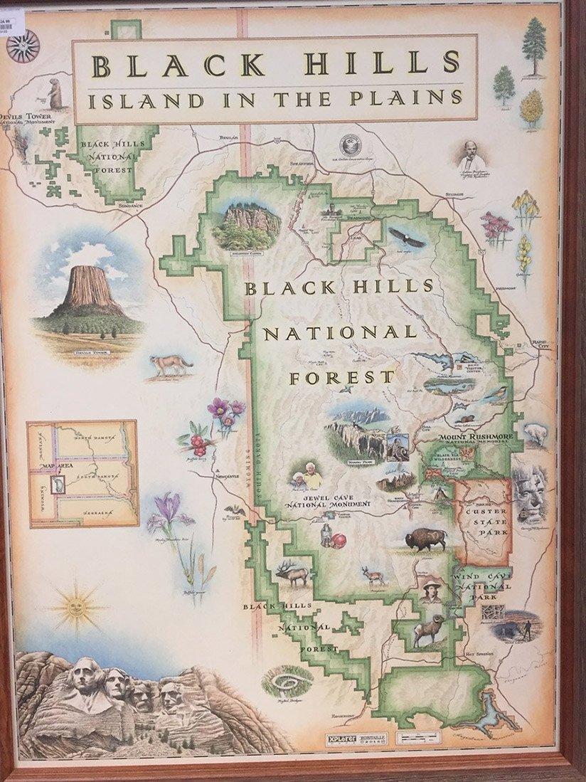 Black Hills Map Black Hills Xplorer Map Black Hills Map