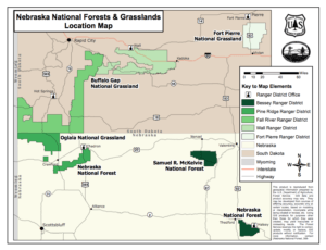 Nebraska National Forests & Grasslands Location Map