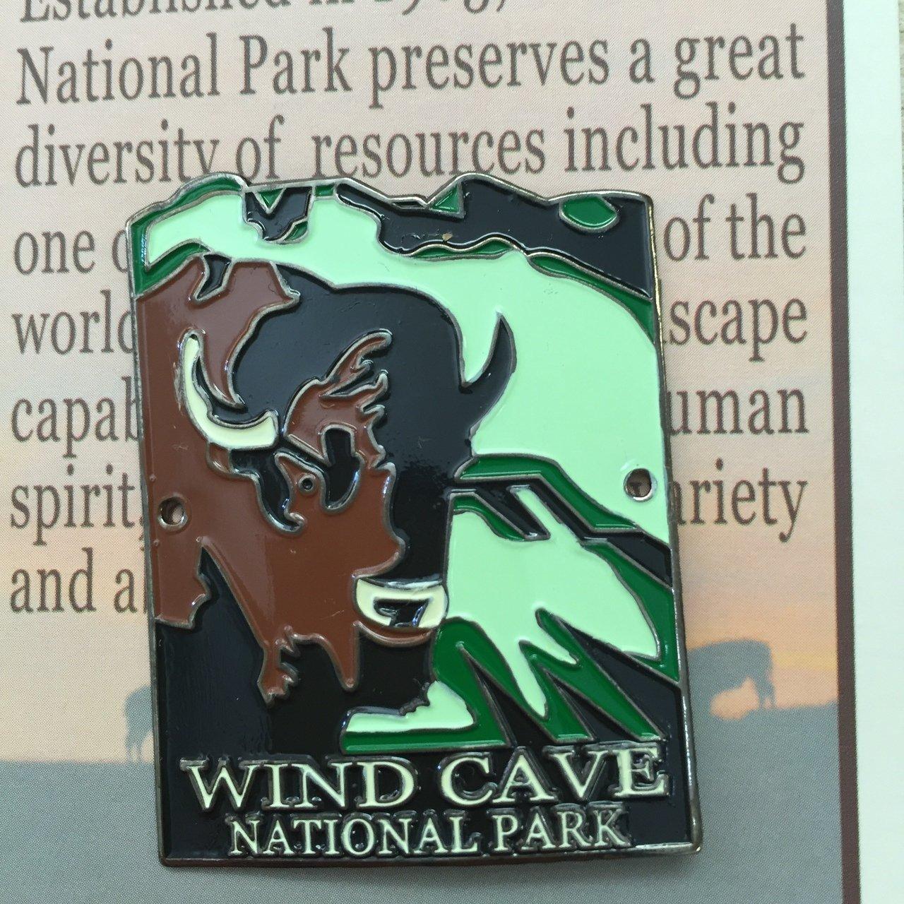 Wind Cave Bison Hiking Medallion