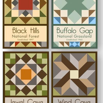 Black Hills Regional Quilt Block set