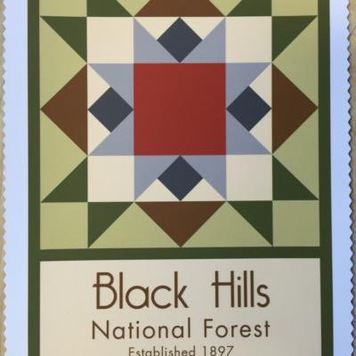 Black Hills National Forest quilt block