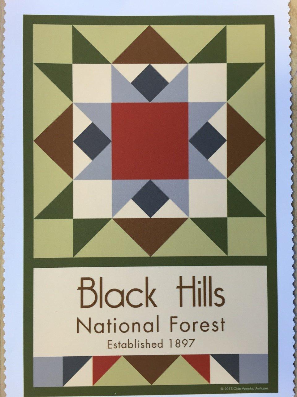 Black Hills National Forest quilt block