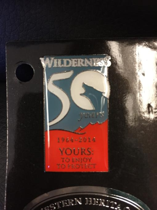 50th Anniversary Wilderness pin