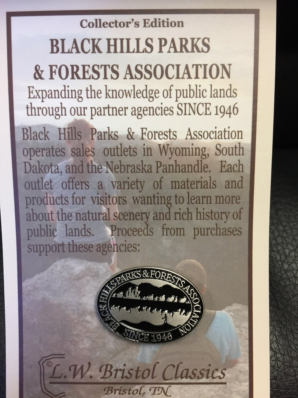 Black Hills Parks & Forests Association pin or hiking medallion