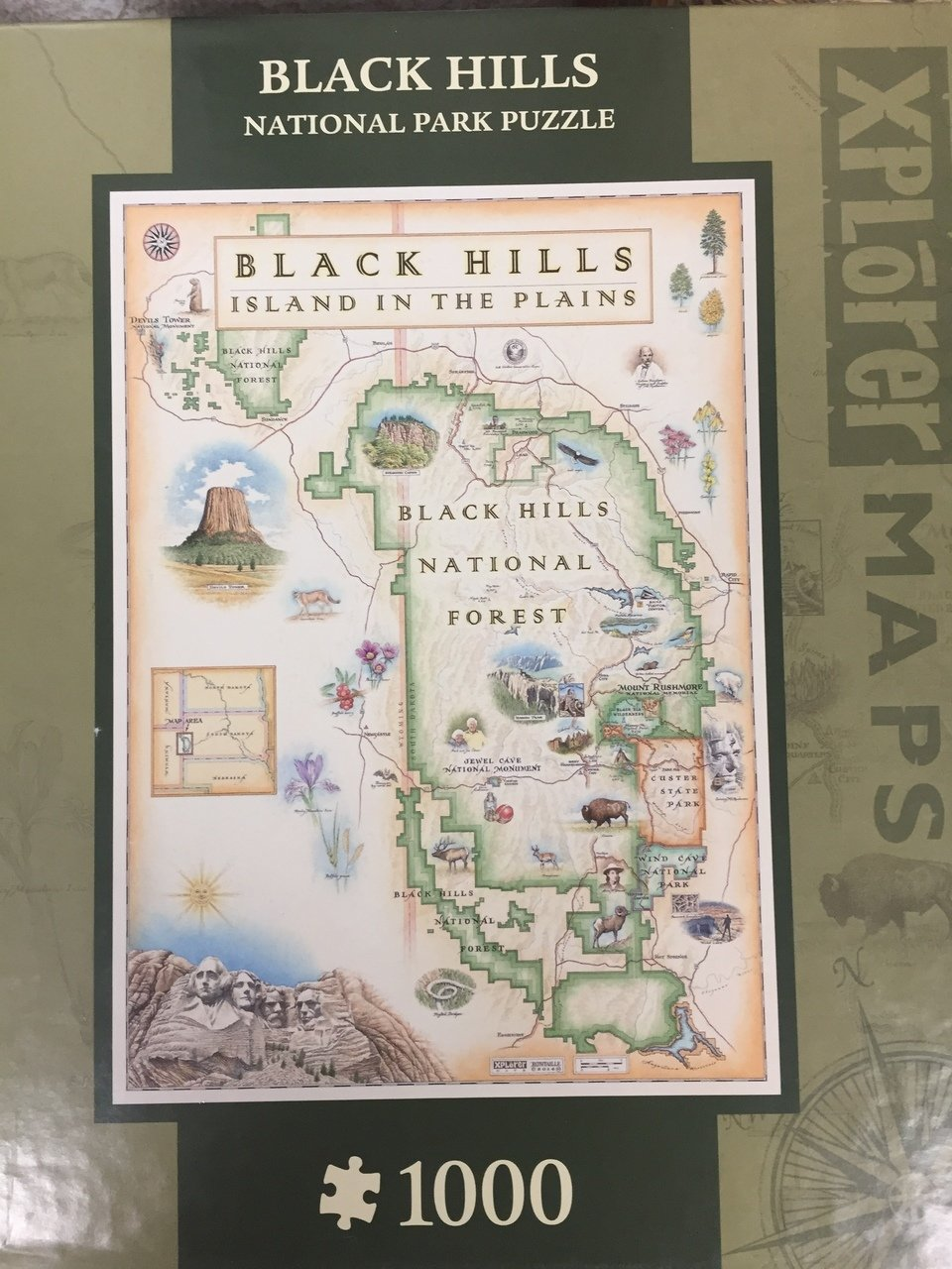 Black Hills Xplorer Map Puzzle