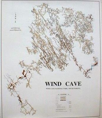 Poster - Wind Cave map