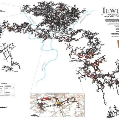 Poster Jewel Cave Map