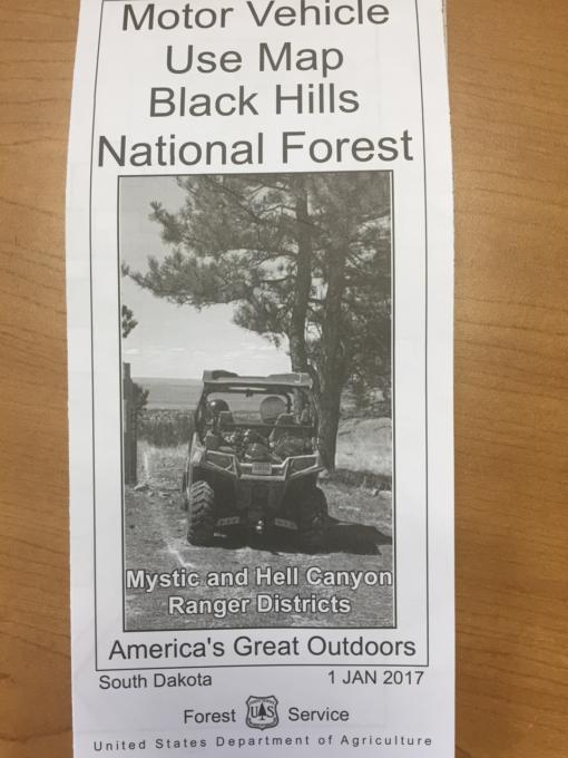 Hills National Forest Motorized Trail Permits - Black hills national forest on us map