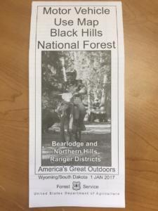 Black Hills National Forest Motorized Trail Map 2017 | Black Hills ...