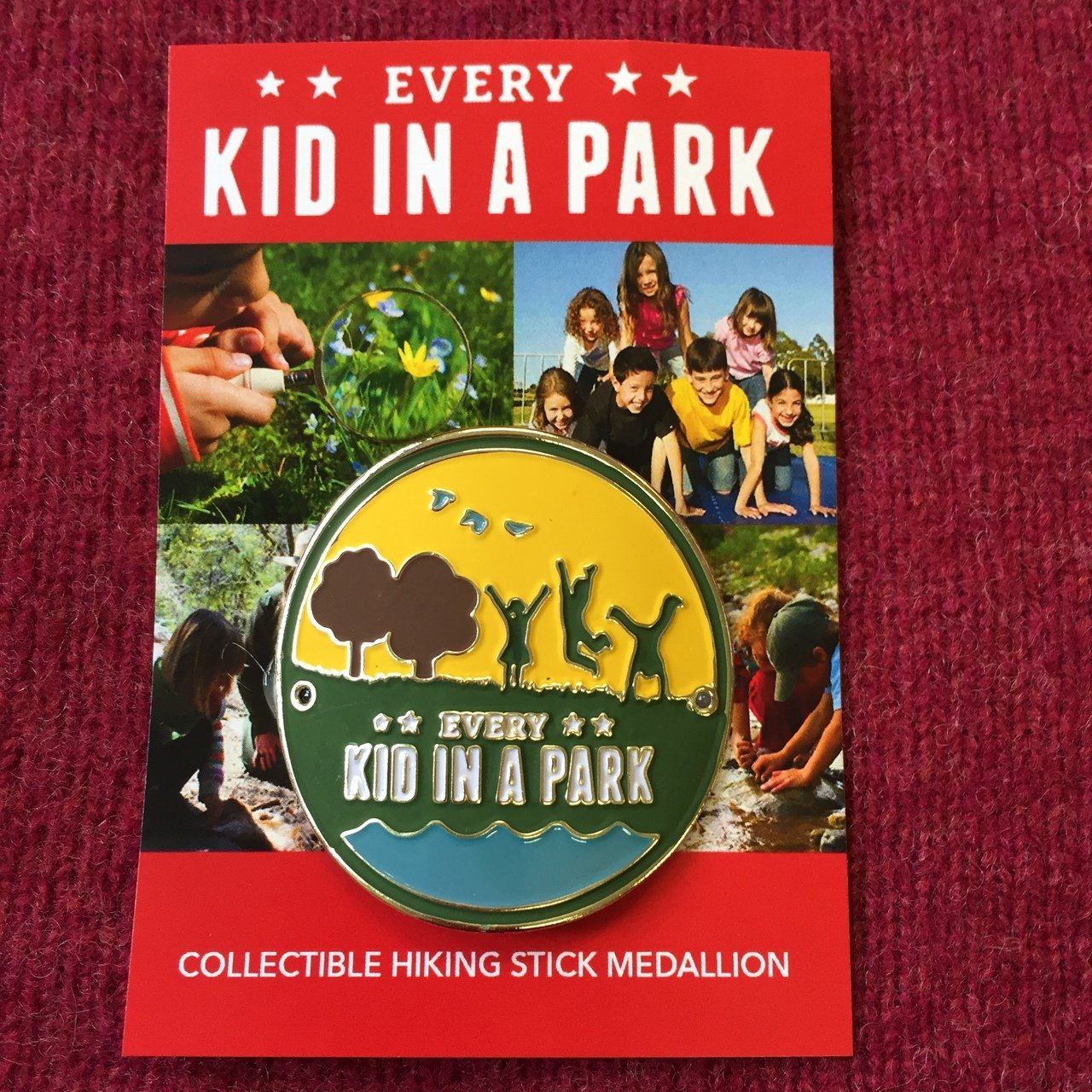Every Kid in a Park hiking medallion