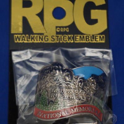 Mount Rushmore walking stick emblem