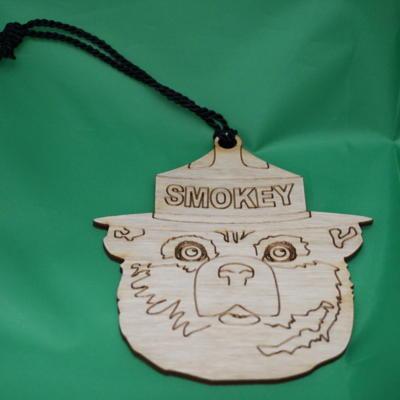 Smokey wooden ornament