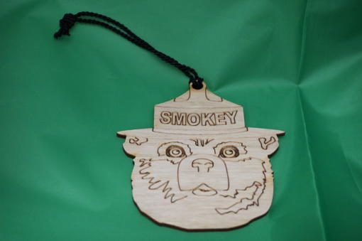 Smokey wooden ornament