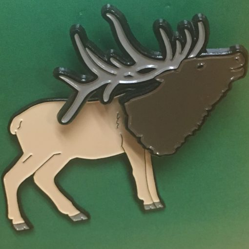 Bobble-Head Elk Pin