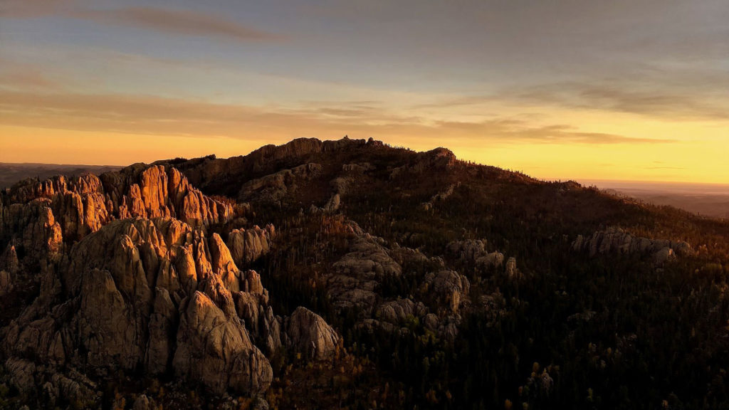 Sunrise in the Black Hills National Forest