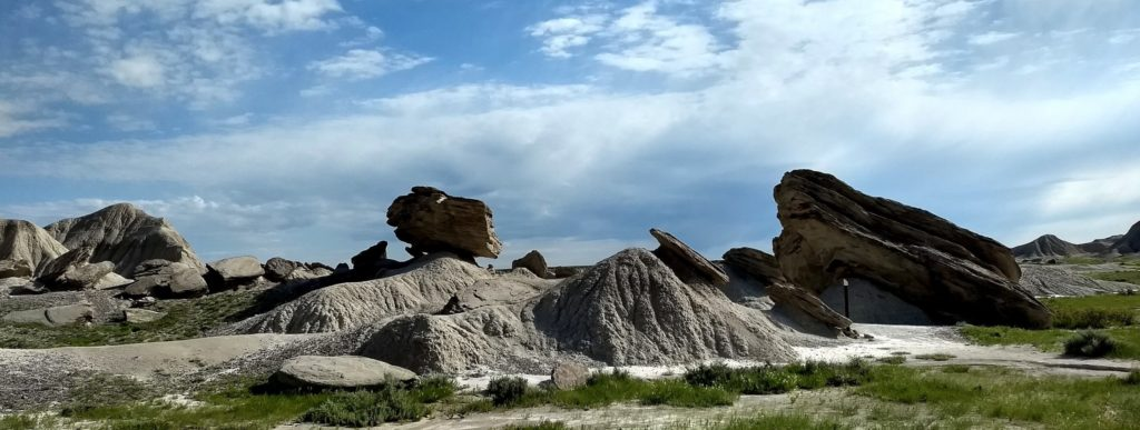 Landscape photo of badlands