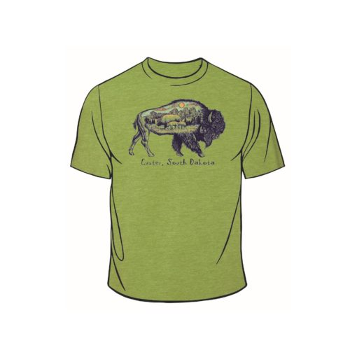Custer SD Bison Tee